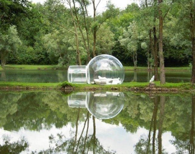 В лесном отеле «Ловец снов» номера в виде прозрачных мыльных пузырей
