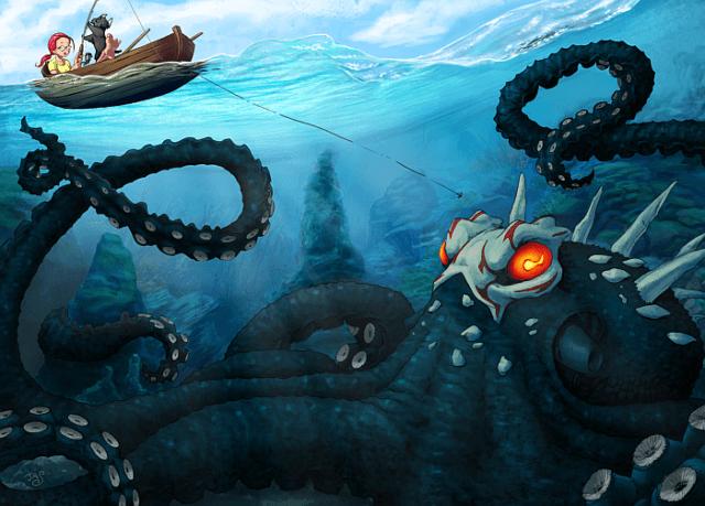 Мифическое морское чудовище кракен существует на самом деле