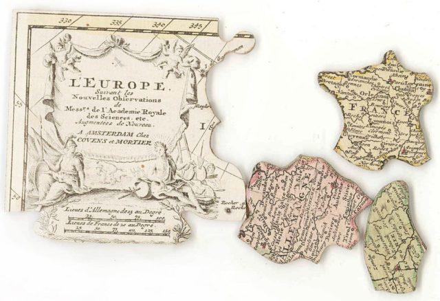 Первые пазлы придумал учитель географии Джон Спилсбери в 1761 году