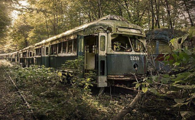 Кладбище трамваев в Пенсильвании