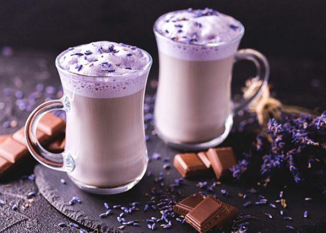 Лвавандовый кофе Раф