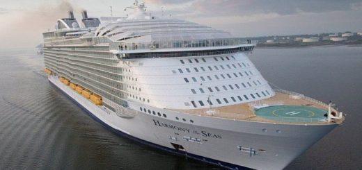 «Гармонии морей» – самый большой корабль в мире в пять раз тяжелее «Титаника»