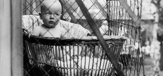 В прошлом веке детей выгуливали в оконных клетках